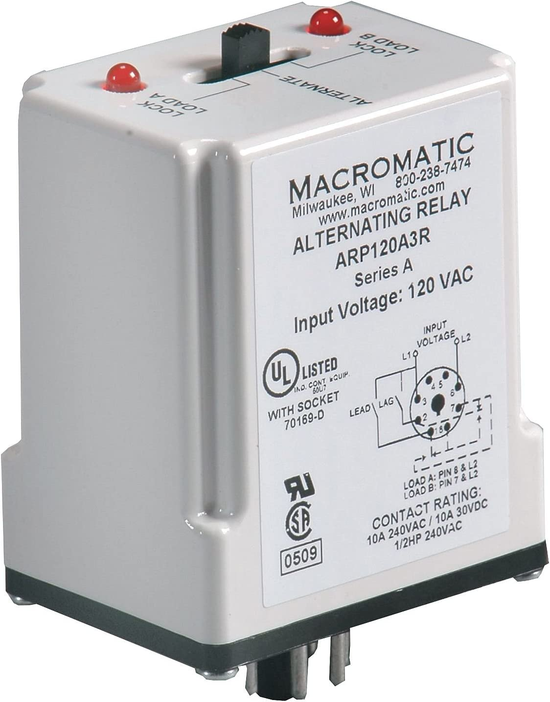 Alternating Relay DPDT 120VAC 10A lowest price 8 Louisville-Jefferson County Mall Pin