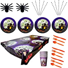 10 Mensen Halloween Party Servies Decoratie Paper Products Keukengerief Haunted House Castle Pompoen Voor Birthday Party H...