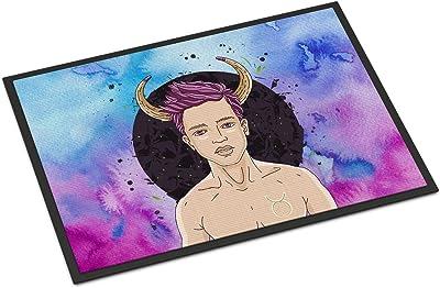 Caroline's Treasures Taurus Zodiac Sign Doormat, 24H x 36W, Multicolor