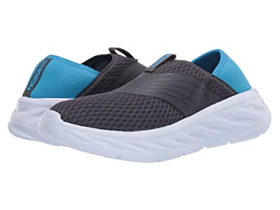 Hoka One One Ora Recovery Shoe (Ebony/Dresden Blue) Men