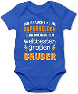 Shirtracer Geschwisterliebe Baby - Ich Habe den weltbesten großen Bruder - Baby Body Kurzarm für Jungen und Mädchen