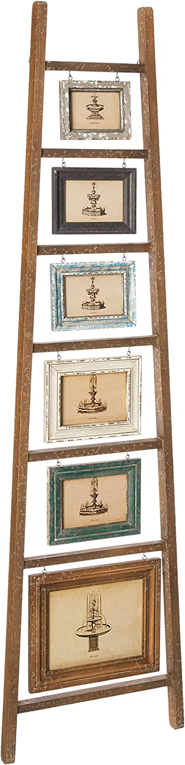 Max 48% OFF Creative Co-Op Max 58% OFF Decorative Wood Ladder 6 with Frame Hanging Photo