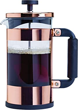 Primula Melrose French Tea Maker, Stainless Steel Coffee Press, Premium Filtration with No Grounds, Heat Resistant Borosilica