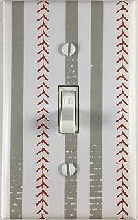 Sports Baseball Theme Decor Single Decorative Single Toggle Light Switch Plate Cover