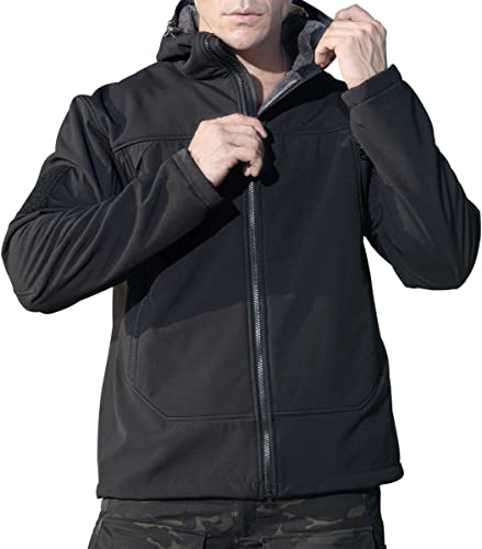 Libre SOLDIER Softshell imperméable Fleece Coat encapuchonné Combat veste