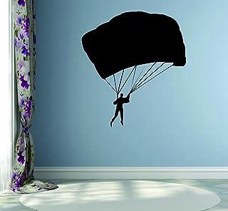 ملصق حائط من الفينيل مطبوع عليه صورة المظلة الفضائية RAD 541 3 Parasail Jumping Man Sky Diving من Design with Vinyl مقاس 5...