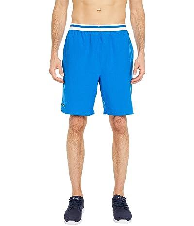Lacoste Striped Waistband Shorts (Nova Blue/White) Men