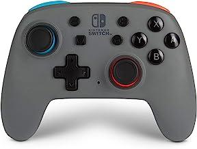 PowerA Nano Enhanced Wireless Controller for Nintendo Switch – Grey-Neon