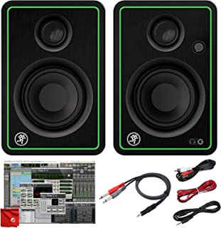 Mackie CR3-X 3-Inch Creative Reference Multimedia Monitors Bundle with Pro Tools First DAW Music Editing Software and Dual...