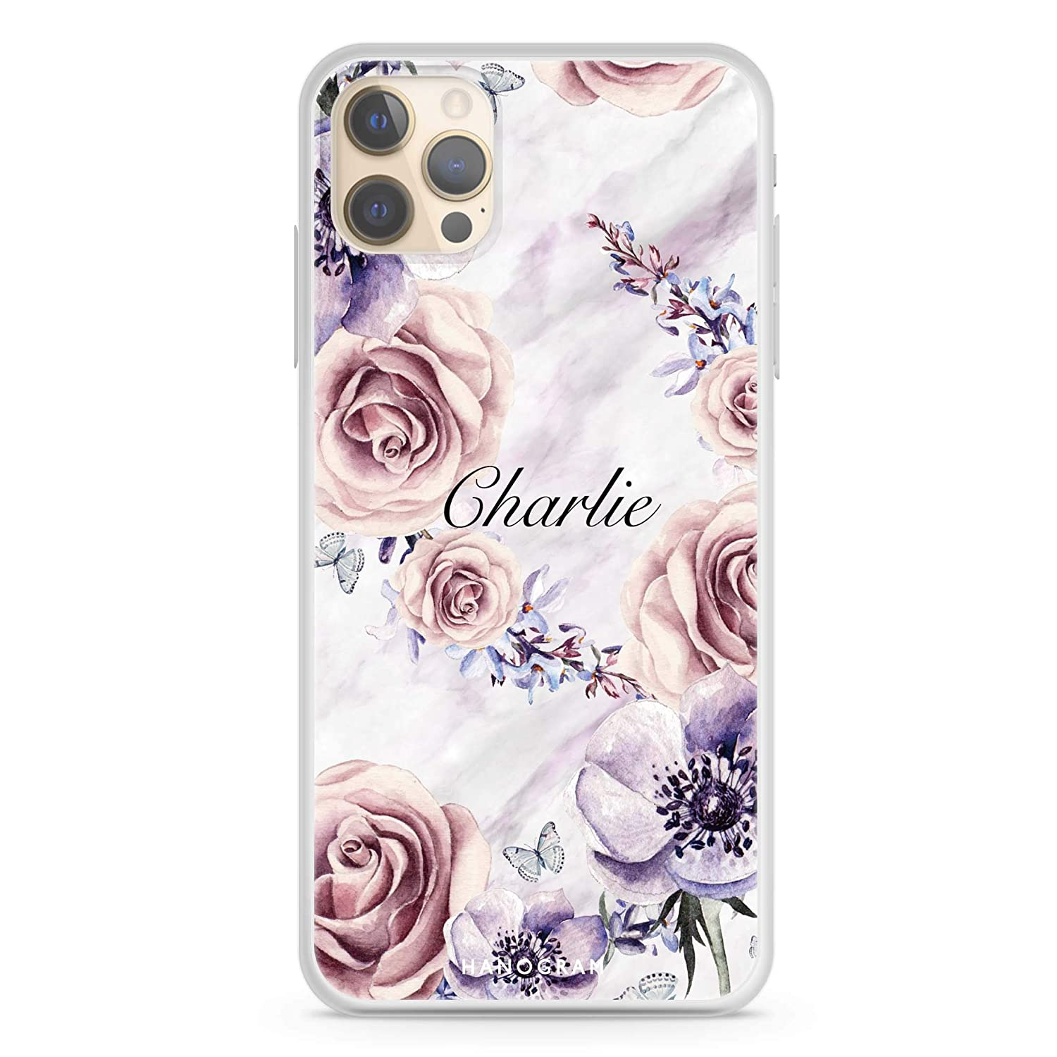 White Marble Flower iPhone 12 Pro Max 50% OFF Soft Case Regular store Clear Max