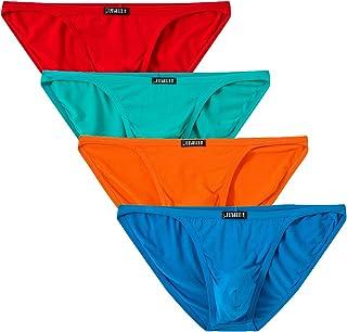 Jinshi Mens Bikini Briefs Low Rise Tagless Bamboo Underwear