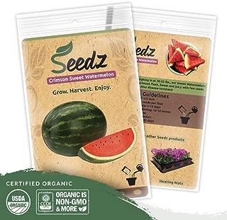 Organic Watermelon Seeds, APPR. 75, Crimson Sweet Watermelon, Heirloom Vegetable Seeds, Certified Organic, Non GMO, Non Hybrid, USA
