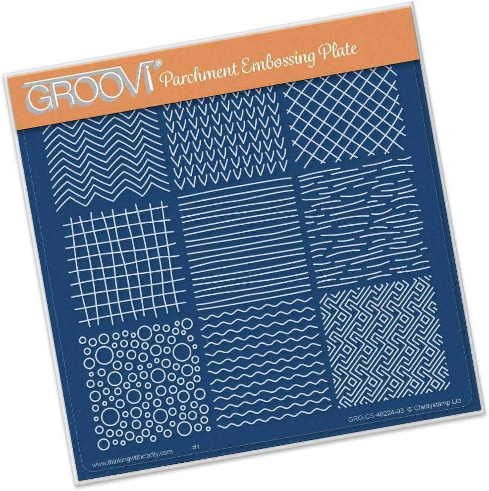 depot Colorado Springs Mall Groovi Template - Textures Square A5 Plate