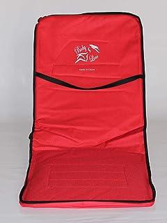 كرسي من المعدن تلبيسة قماش للرحلات قابل للطي ,بثلاث مستويات ساند ظهر
