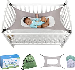 Baby Crib Hammock by Easy Gorilla - Newborn Bed Sleeping Essentials for Boys and Girls - Breathable and Portable - Infant Sleep Comfort Gifts for Indoor Cot - Cradle - Safety Mesh Nursery Nap Hammocks