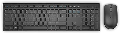 Teclado e Mouse Wireless Dell, KM636, Preto