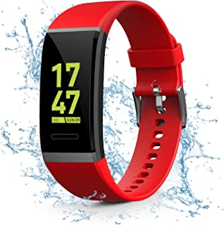 Kirlor Fitness Tracker, Waterproof Color Screen Smart Bracelet with Heart Rate Blood Pressure Monitor,