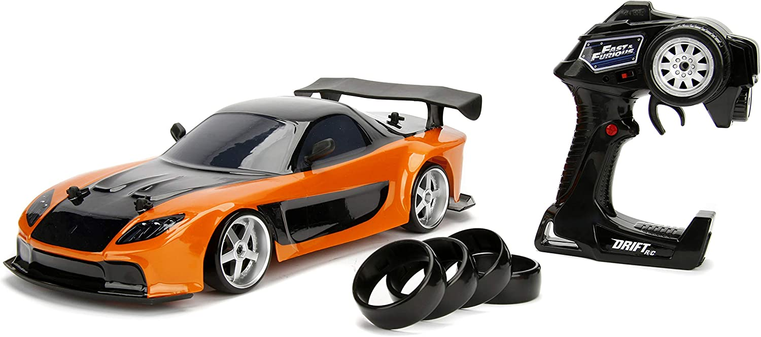 Jada Toys Fast Furious Omaha Mall Complete Free Shipping Han's Mazda 1: Drift RX-7 RC Car