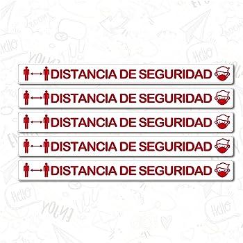 Pack de 4 Unidades de Vinilo para Distancia de Seguridad   Medidas 100 x 12 cm   con Textura Antideslizante para Suelo  : Amazon.es: Hogar