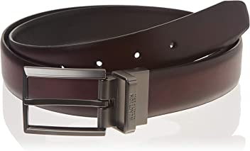 Kenneth Cole Mens 1 1//4-Inch Sherill Dress Belt with Feather Edge