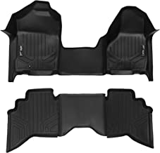 MAXLINER Floor Mats 1st Row 1 Piece and 2nd Row Liner Set Black for 2002-2008 Ram 1500/2003-2009 Ram 2500/3500 Quad Cab
