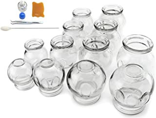 ?? 12 pcs Thick Glass Cupping Set for Professionals (2 Cups #5~2.87