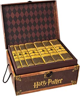 Juniper Books Harry Potter Hufflepuff House Trunk Set | Seven-Volume Hardcover Book Set with Custom Designed Dust Jackets | Author J.K. Rowling