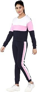 Shocknshop Multi Color Block Pullover Tee & Pants Tracksuit Set for Women (WLEG134)