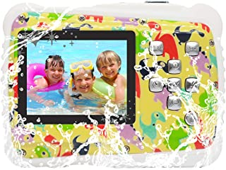 Kids Digital Camera, Vmotal Waterproof Camera for Kids with 2.0 inch TFT Display, 8MP Waterproof Digital Camera for Children Boys Girls Gift (Dinosaur)