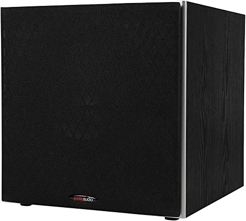 """Polk Audio PSW10 10"""" Powered Subwoofer - Power Port Technology, Up to 100 Watts, Big Bass in Compact Design, Easy Set..."""