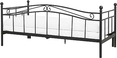 Beliani - Lit Banquette - Tulle - 80 x 200 cm, en Métal, Noir