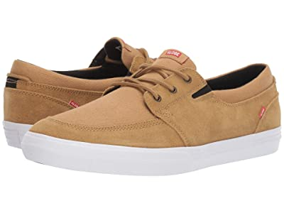 Globe Attic (Tan Shaved Suede/White Canvas) Men