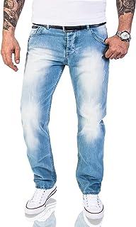 Rock Creek men's distressed vintage washed, designer Jeans RC 2063