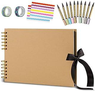 Yangbaga Album Photo Scrapbooking 80 Pages Fait à la Main DIY Album Craft Paper- Cadeau pour Un Souvenir d'amour, Amis, Fa...