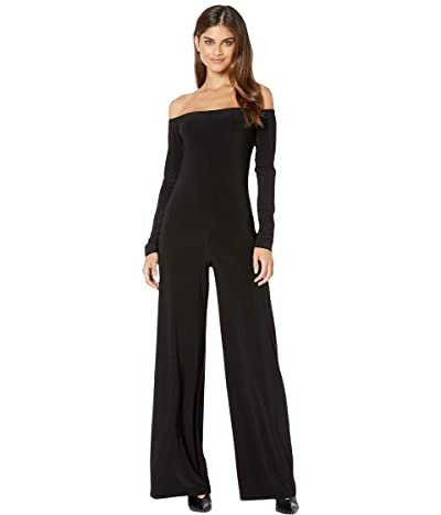 KAMALIKULTURE by Norma Kamali Long Sleeve Off-Shoulder Jumpsuit (Black) Women