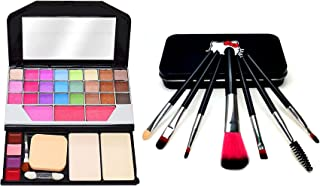 TYA Makeup Kit + Makeup Brush Set of 7 black)