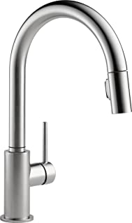 DELTA FAUCET 9159-AR-DST Trinsic Single-Handle Kitchen Sink Faucet with Pull Down Sprayer and Magnetic Docking Spray Head, Arctic Stainless