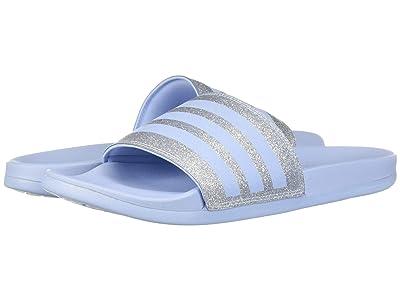 adidas Adilette Comfort (Glow Blue/Glow Blue/Glow Blue) Women