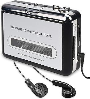 2020年最新版 ダイレクト カセットテープ MP3変換プレーヤー カセットテープデジタル化 コンバーター PC不要 USBフラッシュメモリ保存 カセットテープ (白)