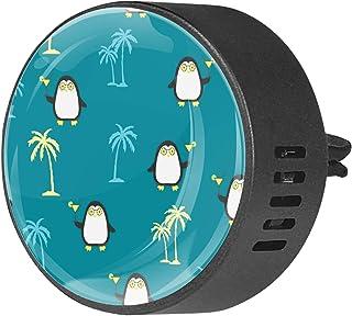 Diffuseurs de voiture pour désodorisant aux huiles essentielles Aromathérapie Motif d'été sans couture avec pingouins