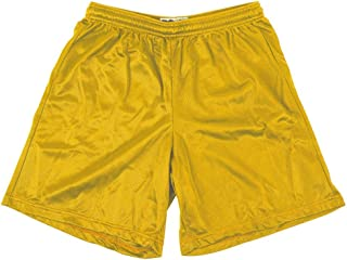 Alleson 580P Adult Nylon Mesh Shorts Medium Light Gold