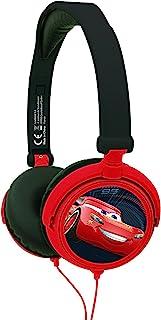 Lexibook Disney Pixar Cars Flash McQueen Casque audio stéréo, puissance sonore limitée, pliable et ajustable, rouge/noir, ...