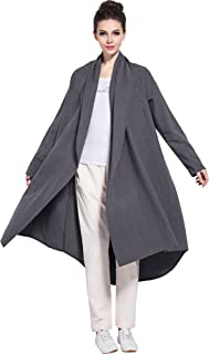 Soft Linen Cotton Cardigan Spring Fall Winter Coat Plus Size Clothing Y80