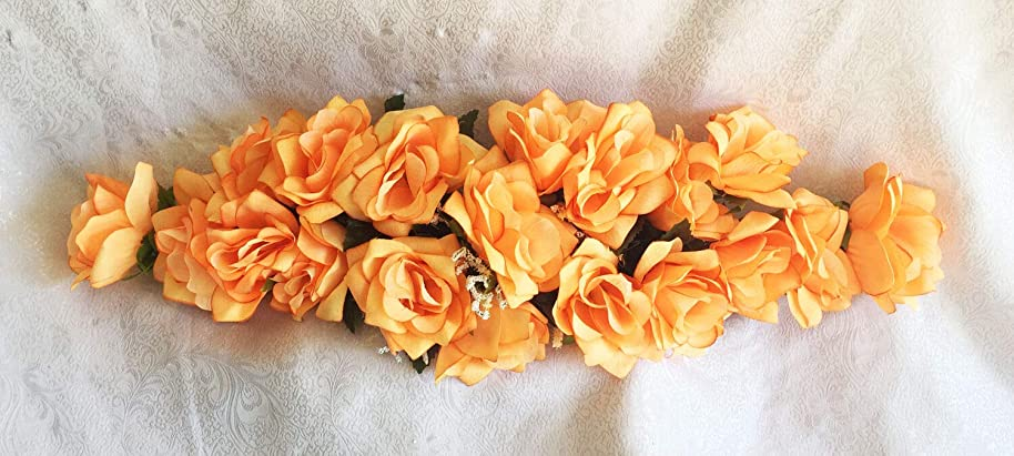 Kampoojoo - Peach Rose Swag Silk Wedding Flowers Chuppah Arch Gazebo Centerpiece
