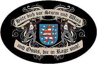 Aufkleber Wetterfest Hüte Dich DDR Thüringen 15 oder 53cm Ossi Bundesland Zone