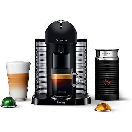 Nespresso BNV250BKM Vertuo Coffee and Espresso Machineby Breville, Matte Black