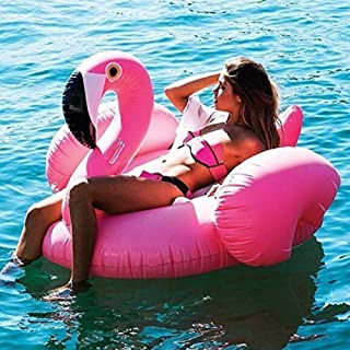 inflatable flamingo pink flamingo pool float suitable for adults and children at the beach or