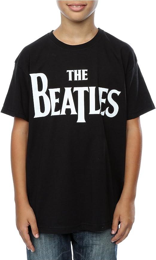 The Beatles niños Drop T Logo Camiseta