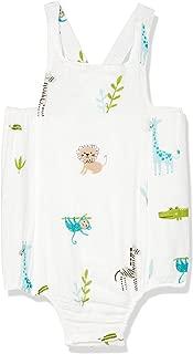 Petit Bamboo Muslin Unisex Onesie, Blue-Giraffe, 12-Months