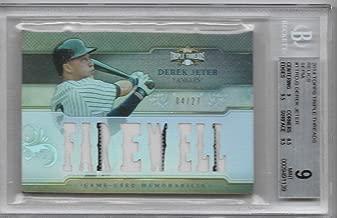 2014 Triple Threads Baseball Derek Jeter 8 Piece Jersey Card # 4/27 BGS 9 Mint